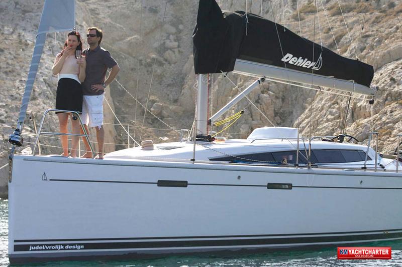 Detailanblick Schiff - KM Yachtcharter